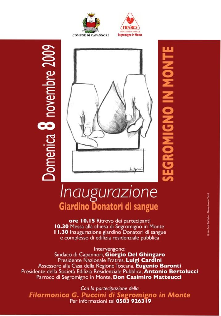 8/11/2009 - Giardino dei Donatori di Sangue