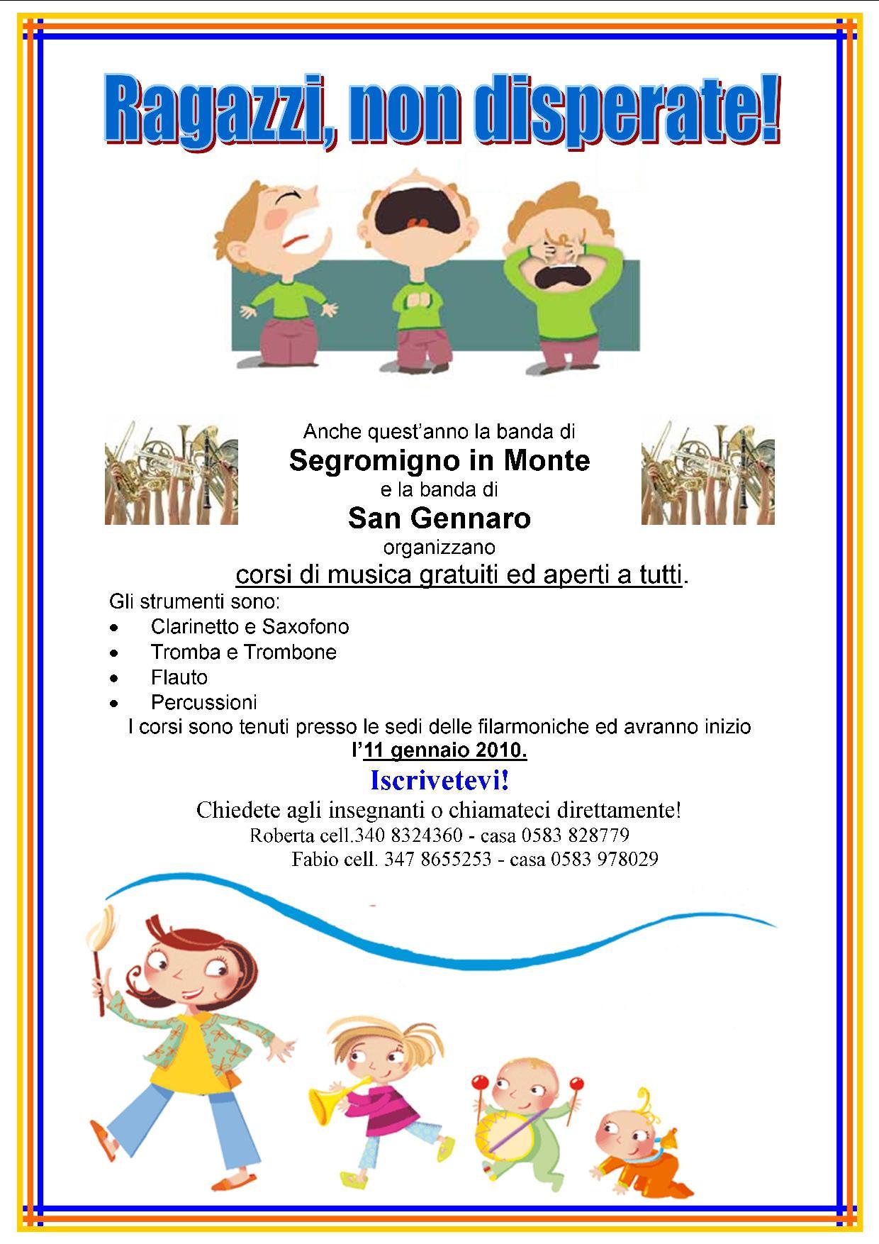 Volantino Corsi 2009/2010