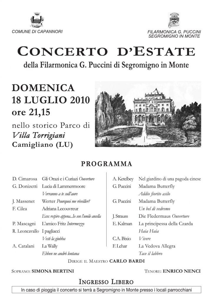 Torrigiani 2010 locandina