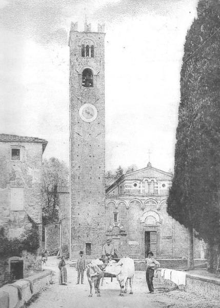 Veduta Storica della Chiesa Segromigno in Monte