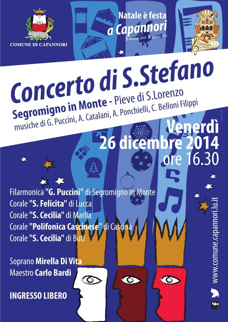 La locandina del concerto del 26 dicembre 2014